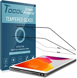 TOCOL [2Pack] for New Apple iPad 10.2 inch 2019 Screen Protector Tempered Glass [9H Hardness] HD Clarity Apple Pencil Compatiblewith Lifetime Replacement Warranty