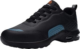 Fenlern Chaussure de Securite Homme Legere Respirant Baskets de Sécurité Embout Acier Chaussures de Travail