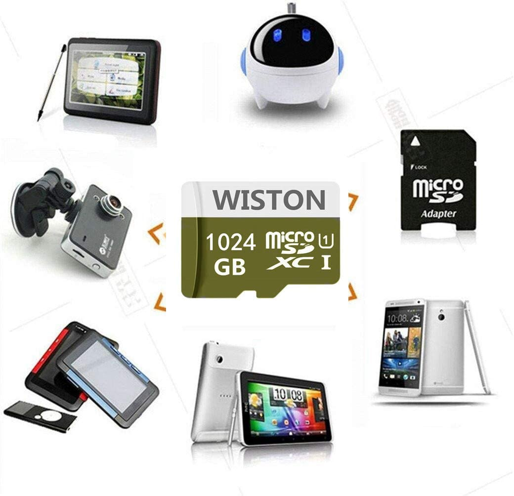 1TB Micro SD Card High Speed Class 10 SDXC Memory Card with SD Adapter
