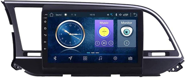 HzvtCtarmsu Compatible for Hyundai Elantra 2016-2018 Sat Nav Android 10.0 Head Unit FM Radio Receiver Auto Audio Player MP5 Car Stereo 9 Inch Touch Screen GPS Navigation,4 core WiFi 1+16GB