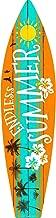 Smart Blonde Endless Summer Metal Novelty Surf Board Sign SB-031