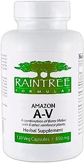 Raintree Formulas Amazon A-V Anti-Viral 650mg 120 Vegetarian Capsules