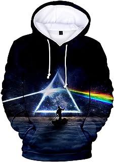 Pink Floyd Fans Felpa con Cappuccio Nera, Abbigliamento di Grandi Dimensioni, Abbigliamento per Bambini, Regali, Lo Stesso...