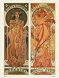 onthewall Jugendstil Poster / Kunstdruck von Alphonse Mucha
