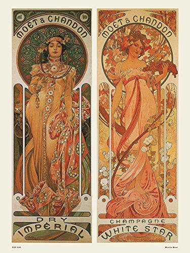 onthewall Jugendstil Poster / Kunstdruck von Alphonse Mucha Moet PDP040d