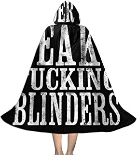 SEDSWQ by Order of The Peaky Fucking Blinders Unisex Kids Hooded Cloak Cape Halloween Xmas Party Decoration Role Cosplay Costumes Black