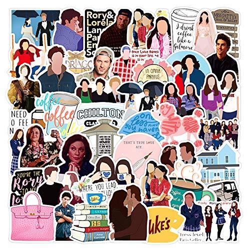 ZZHH 50 unids/Pack clásico Programa de televisión Gilmore Girl Graffiti Pegatinas Muebles Mesa de Pared DIY Silla Juguete Coche Maletero Motocicleta Etc