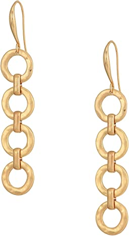 Gold Link Linear Earrings