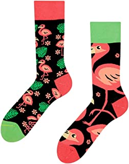 Flamingos - Calcetines de diseño, 1 par, multicolor