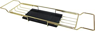 Marbillum Black Marble Bathtub Caddy Tray/Bath Serving Tray