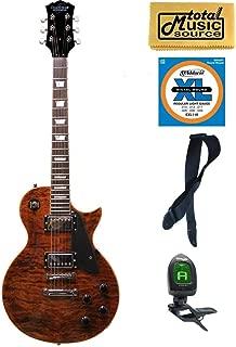 Oscar Schmidt OE20 Vintage Style Electric Guitar, Quilt Tiger Eye, OE20QTE KIT