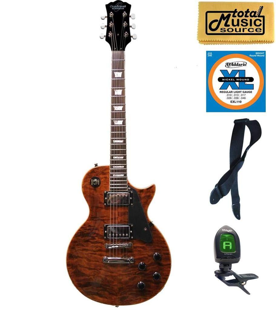 Cheap Oscar Schmidt OE20 Vintage Style Electric Guitar Quilt Tiger Eye OE20QTE KIT Black Friday & Cyber Monday 2019