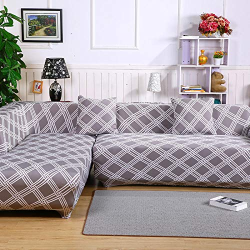 Funda Cubre Sofa Chaise Longue,2 Piezas para Funda de sofá de Esquina, Chaise Longue-A_195-230cm 195-230cm,Cubre Sofa Chaise Longue Brazo Derecho
