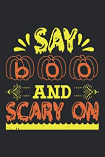 Say Boo And Scary On: Happy Halloween-Bible Study Journal: A Creative Christian Workbook: A Simple Guide To Journaling Scr...