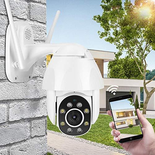 WiFi Beveiligingscamera Buiten, 1080P HD IP65 Waterdichte Buitencamerabehuizing, Bewakingscamera Ingebouwde 2-Weg Audio 8PCS LED Verbeterd Nachtzicht, Bewegingsdetectie Alarm APP Remote Monitoring(EU)