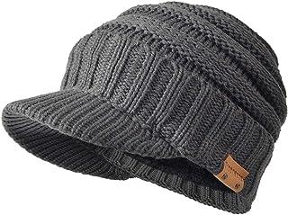 FORBUSITE Mens Visor Beanie Hat for Winter Oversized B320