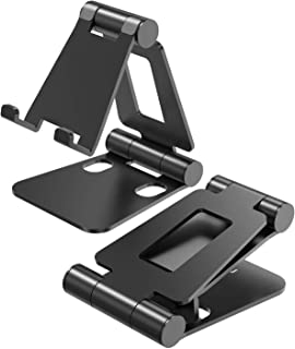 Cell Phone Stand,iPhone Holder Adjustable iPad Stand Foldable Universal Aluminum Stand Compatible with Phone 11 Pro Xs Xs ...