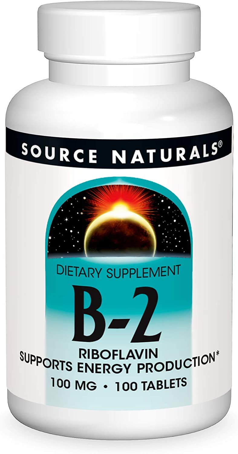Source Naturals Over item handling ☆ Vitamin B-2 Riboflavin 2021 spring and summer new Pr Energy mg Supports 100