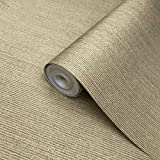 Portofino Textured wallcoverings Rolls Modern Embossed Vinyl Non-Woven Wallpaper Yellow Gold Metallic Stria Vertical Lines Free Match coverings Textures Plain Paste The Wall only