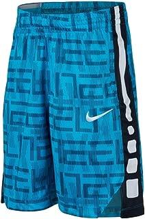 Nike Boys' Elite Stripe Short (Little Big Kids) (Small, Blue/Black)