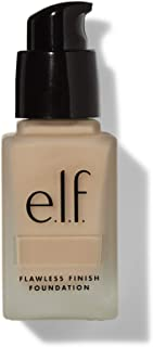 e.l.f., Flawless Finish Foundation, Lightweight, Oil-free formula, Full Coverage , Blends Naturally, Restores Uneven Skin Textures and Tones, Natural, Semi-Matte, SPF 15, All-Day Wear, 0.68 Fl Oz