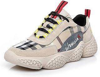 [サニーサニー] レディース スニーカー レースアップ 厚底 パッチワーク カジュアル インヒール オシャレ 美脚 シークレットシューズ 通学 歩きやすい 可愛い コンフォート 滑り止め 運動靴