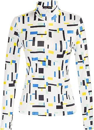 JACK SMITH Women Quarter-Zip Workout Tops Long Sleeve Thumb Holes Running Shirts S-2XL