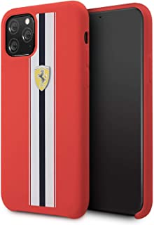 CG Mobile Ferrari Silicone Case for iPhone 11 Pro Cell Phone Cover with Soft Microfiber Interior Hard Case Drop Protection...