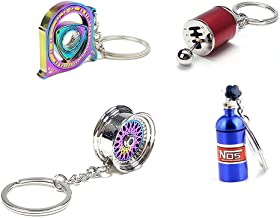 4 Auto Part Model Metal Keychain/Key Ring/Holder Set-NOS...