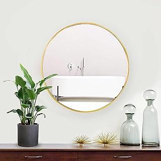 Lekesky Round Mirror Bathroom Mirror Wall Mounted HD Wall Mirror Cicular for Sanitary, Living Room or Bedroom Hallway - 45...