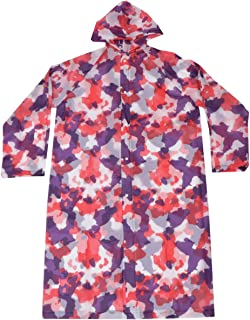PRETYZOOM Adult Poncho Reusable Waterproof Rain Poncho Flower Printed Rainwear Rain Snow Full Body Cover Outdoor Rain Coat...