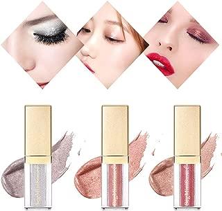 Glitter Liquid Eyeshadow, Glitter Eyeliner, Makeup Eyeshadow Liquid Set, 3 Colors Long Lasting Waterproof Sparkling Eyeliner Eye Shadow Set for Wedding Party Cosplay
