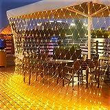 200 LED Lichternetz 3 x 2 m warmweiß Lichterkette Netz mit Fernbedienung Timer 8 Modi Innen und Außen Lichtketten für Party, Geburstag, Hochzeit Weihnachten, Halloween