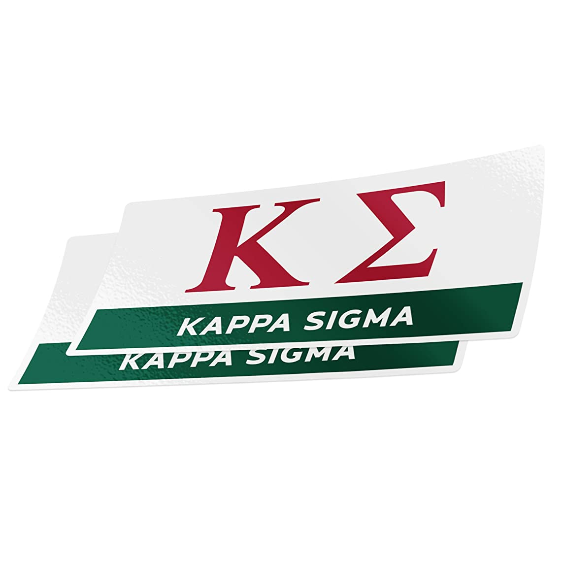 Desert Cactus Kappa Sigma 2-Pack Color Letter/Name Sticker Decal Greek for Window Laptop Computer Car Kappa Sig (Color/Letter Name Sticker)