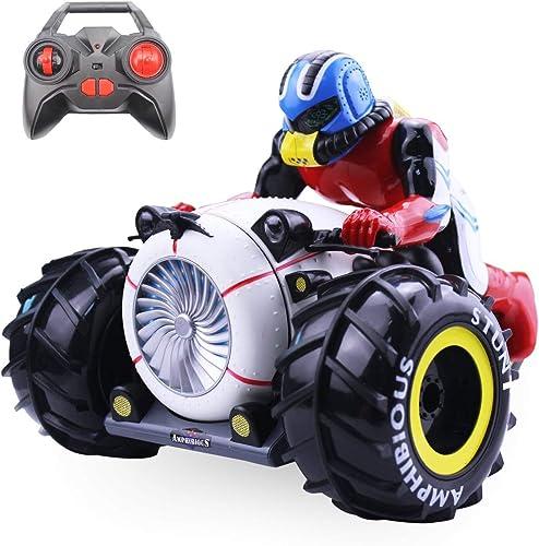RC Auto High Speed  pinning Stunt Auto 2.4G Fernbedienung Amphibious Motorrad fürt auf Land & Wasser fürzeug Spielzeug für Kinder