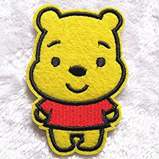 Biker Patches Badge For Winnie Pooh Children's Baby Gum Repair Patch Ironing Clothes Decorative Hair Accessories Diy Decals