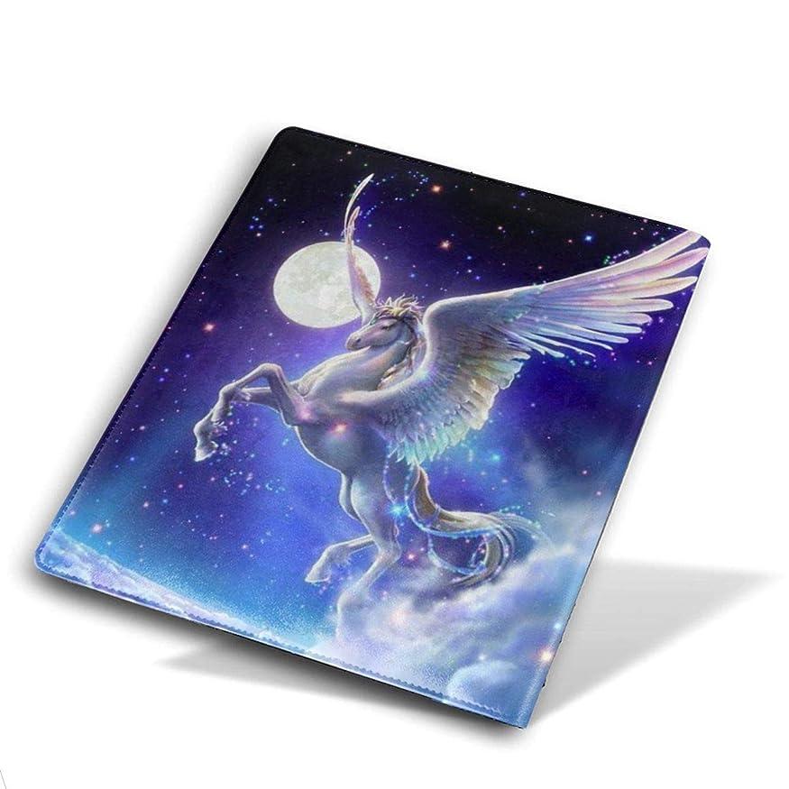 哲学プレミア金銭的なBook Cover ブックカバー 防水 PUレザー(ノートブック用)プリント ヴィンテージ Size 28*51 Cm 飛行の馬 一角獣 ユニコーン