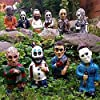 ホラー映画 ガーデンノーム - 悪夢ホラーノーム キラーガーデン ノーム 不気味なアンデッドハロウィン 彫刻 コンバットノーム 装飾 ドワーフ ゾンビ像 屋外庭または芝生の装飾用 (10個パック)