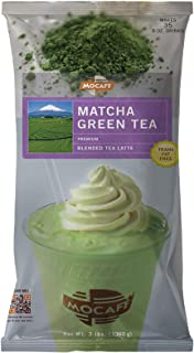 MOCAFE Matcha Green Tea Blended Tea Latte, 3-Pound Bag Instant Frappe Mix, Coffee House Style Blended Drink Used in Coffee Shops
