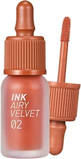 Peripera Ink Airy Velvet Lip Tint | High-Pigmentation, Lightweight, Soft, Moisturizing, Not Animal Tested | Selfie Orange ...