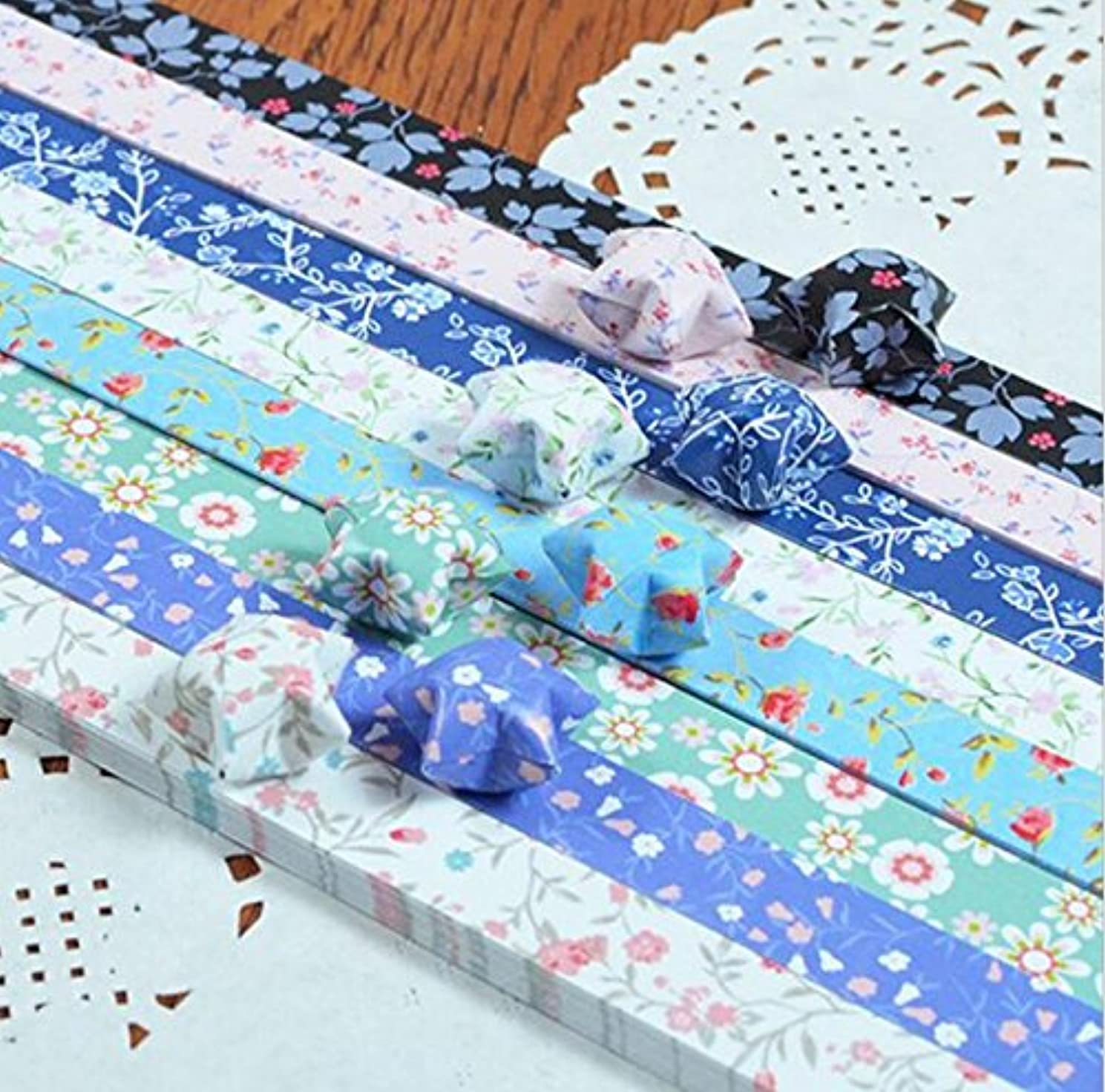 HEMALL 400 Star Paper Lucky Star Origami Paper DIY Handmade Orgami Paper Craft Paper,Origami Star Paper Strips, Q970