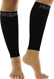 RiptGear Calf Compression Sleeves for Women and Men (Pair) - Graduated Compression Ergonomic Fit – Leg Performance Support Shin Splint and Calf Pain – Footless Compression Socks - Medium