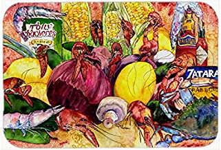 Caroline's Treasures 8698CMT Crawfish with Spices and Corn Kitchen or Bath Mat, 20 by 30, Multicolor