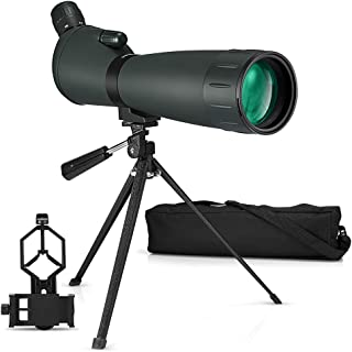 Telescopio Terrestre 20-60X 80 HD Spotting Scope con trípode y Bolsa de Transporte Bolsa de Transporte para Tiro al Blanco Caza Astronomía Observación de Aves Paisaje de Vida Silvestre
