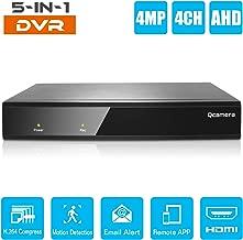 Q-camera 4CH 4MP Full High Definition Hybrid AHD/TVI/CVI/Analog/Onvif IP DVR H.264 CCTV Video Recorder P2P Remote Phone Monitoring for Home Security Surveillance System Camera (NO HDD)