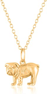 Sterling Silver 18K Yellow Gold Plated 3D Animal Pendants/Charms with 18-Inch Chain – Available Across Various Exquisitely Realistic Designs