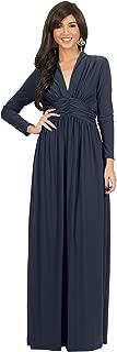 KOH KOH Womens Sleeve Vintage V-Neck Fall Winter Formal Gown