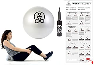 9 Inch Mini Core Ball for Pilates, Physical Therapy, Barre, Yoga - Includes E-Book and Travel Bag