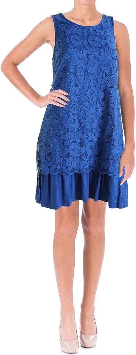 Kensie Women's Sleeveless Floral Lace Dress