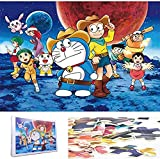 Ydq Classic Puzzle Fotos para Adultos-1000 Piezas- Temas de Doraemon -Cardboard Assemble Rompecabezas De Juguete- Regalo De CumpleañOs para DIY DecoracióN Creativa para El Hogar,B